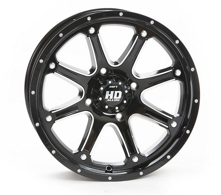 Sti Hd4 Black 12 Atv Wheels 23 Bighorn 2 0 Tires Polaris Rzr 170