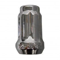 "Chrome Lug Nut - 1/2"" x 20 Spline [1P Beveled]"