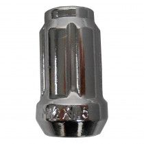 "Chrome Lug Nut - 12mm x 1.5"" Spline [1P Beveled]"