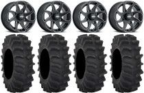 "ITP Twister 14"" Wheels Milled 29"" XM310 Tires Yamaha Viking Wolverine YXZ1000R"