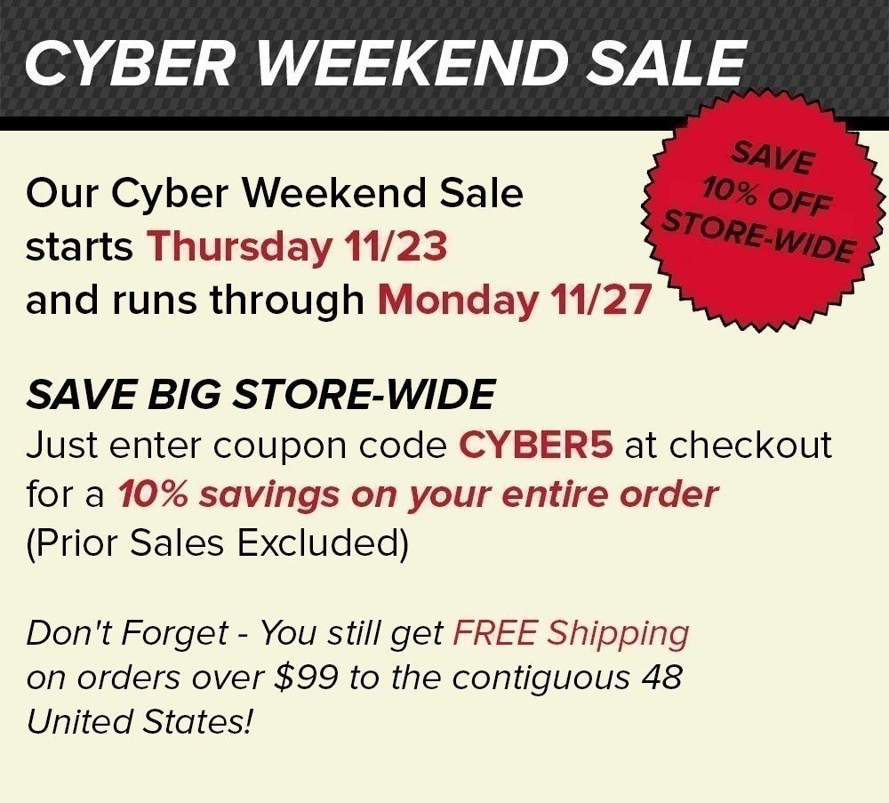 Cyber Weekend Sale 2017